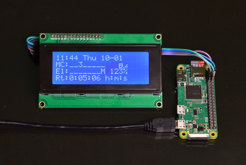 LCD Status Display, run on a stand alone Raspberry Pi Zero W