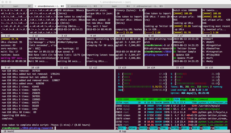 phishalytics terminal screenshot