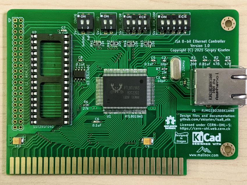 ISA 8-Bit Ethernet Controller - ISA 8位以太网控制器