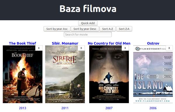 baza filmova