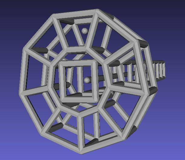 Bent cubic truss 180degree arch with default split ratio