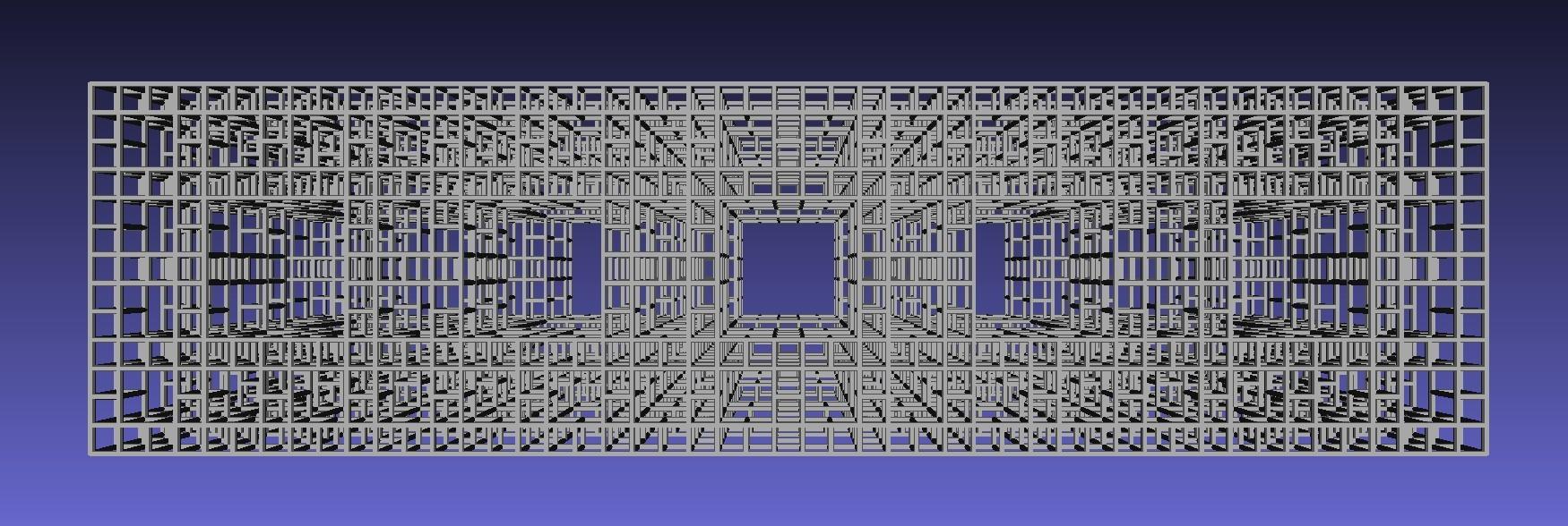 Cubic fractal truss