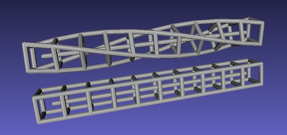 Bent cubic truss 180degree arch with default split ratio