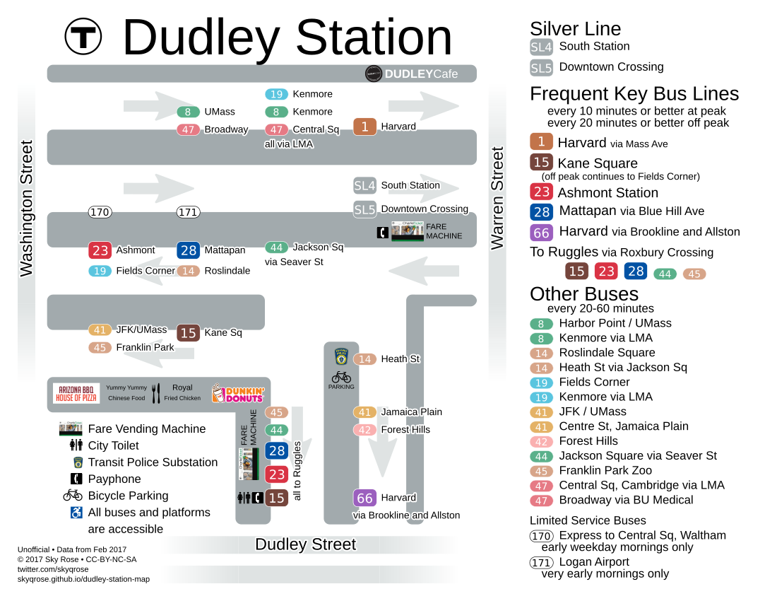 Map of Dudley Station