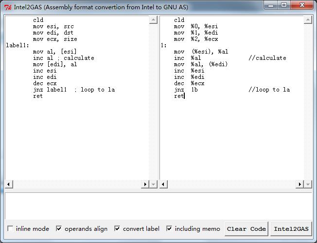 GitHub - skywind3000/Intel2GAS: Convert MSVC Style Inline