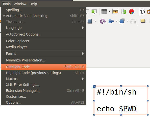 GitHub - slgobinath/libreoffice-code-highlighter: Code snippet