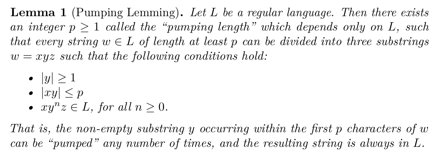 LaTeX compilation output