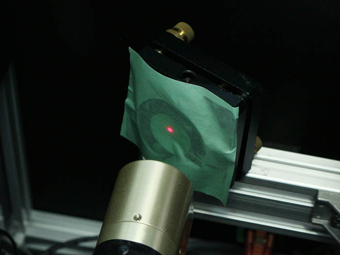 光軸調整 レーザー管-2
