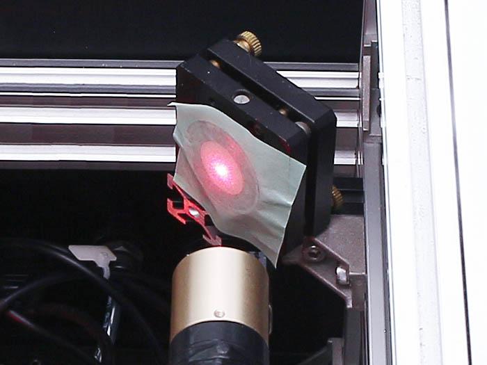 光軸調整 レーザー管-5
