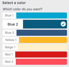 WordPress Customizer Color Select