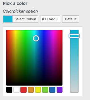 WordPress Customizer Color Picker
