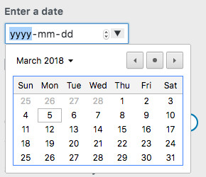 WordPress Customizer Date