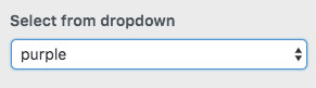 WordPress Customizer select dropdown