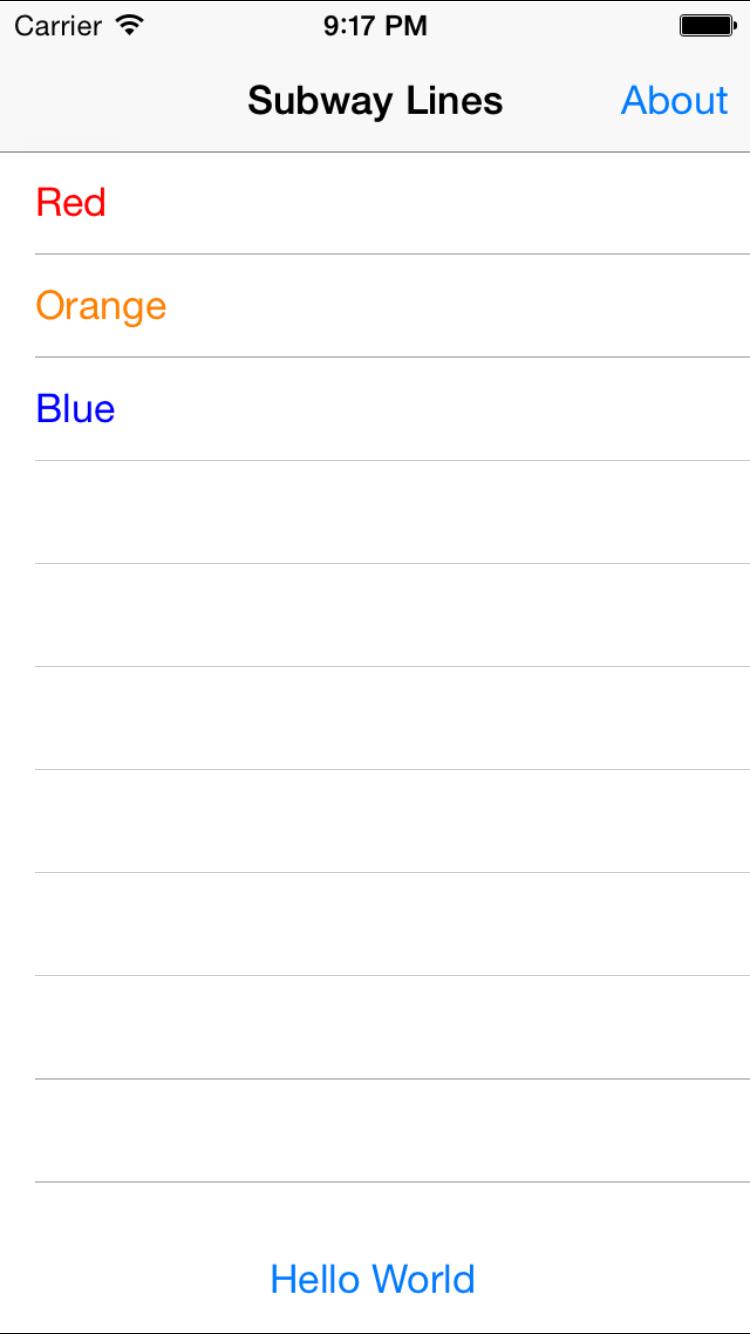 iOS Root Screen