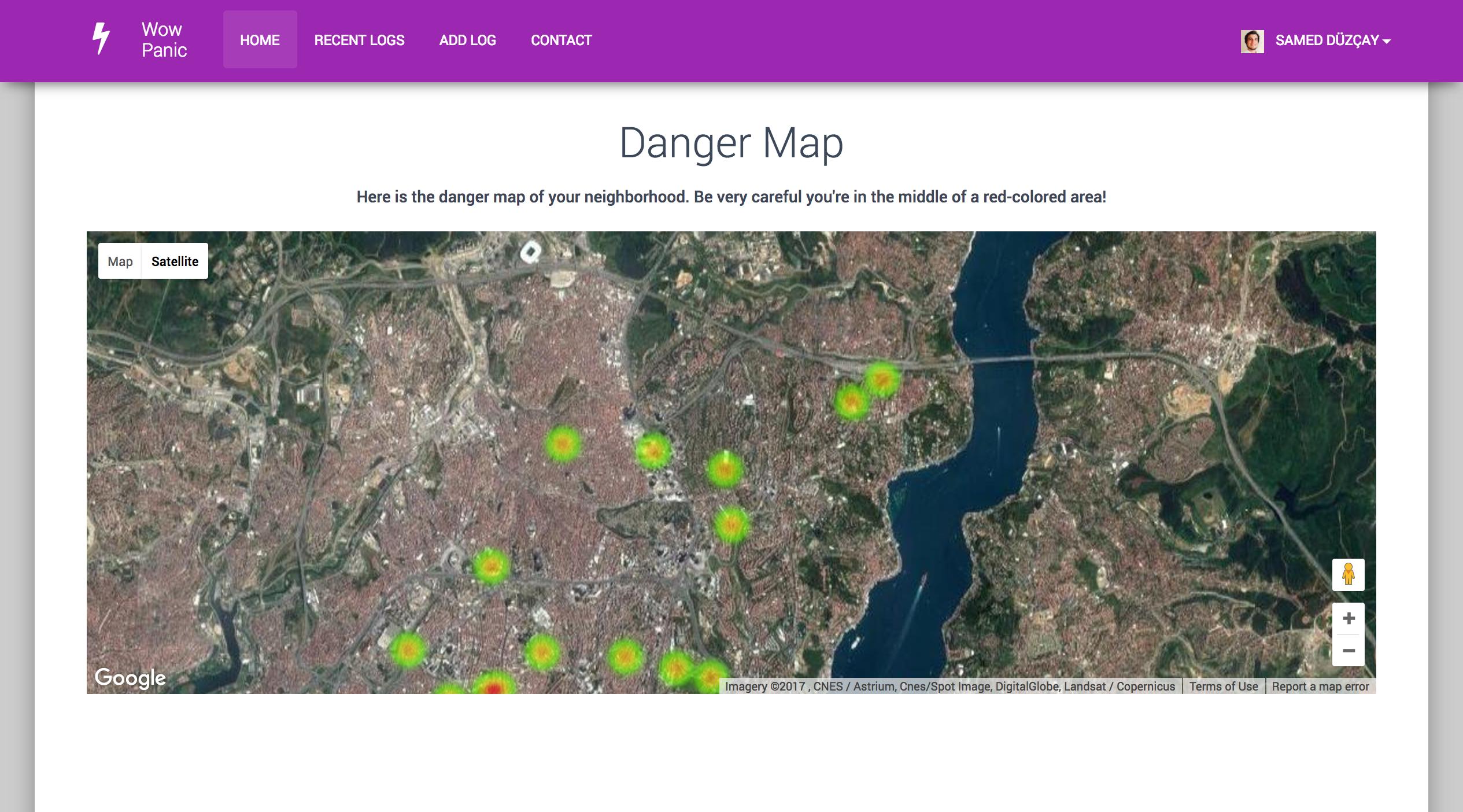 danger map