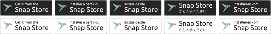 Snap Store badges preview