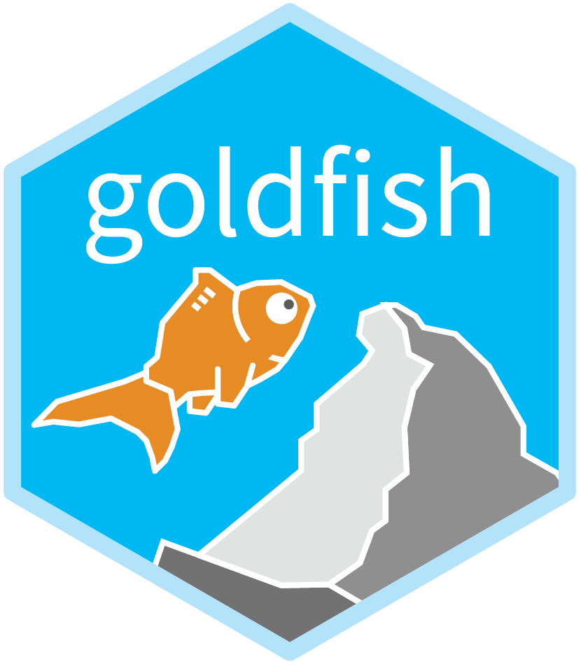 goldfish hex sticker