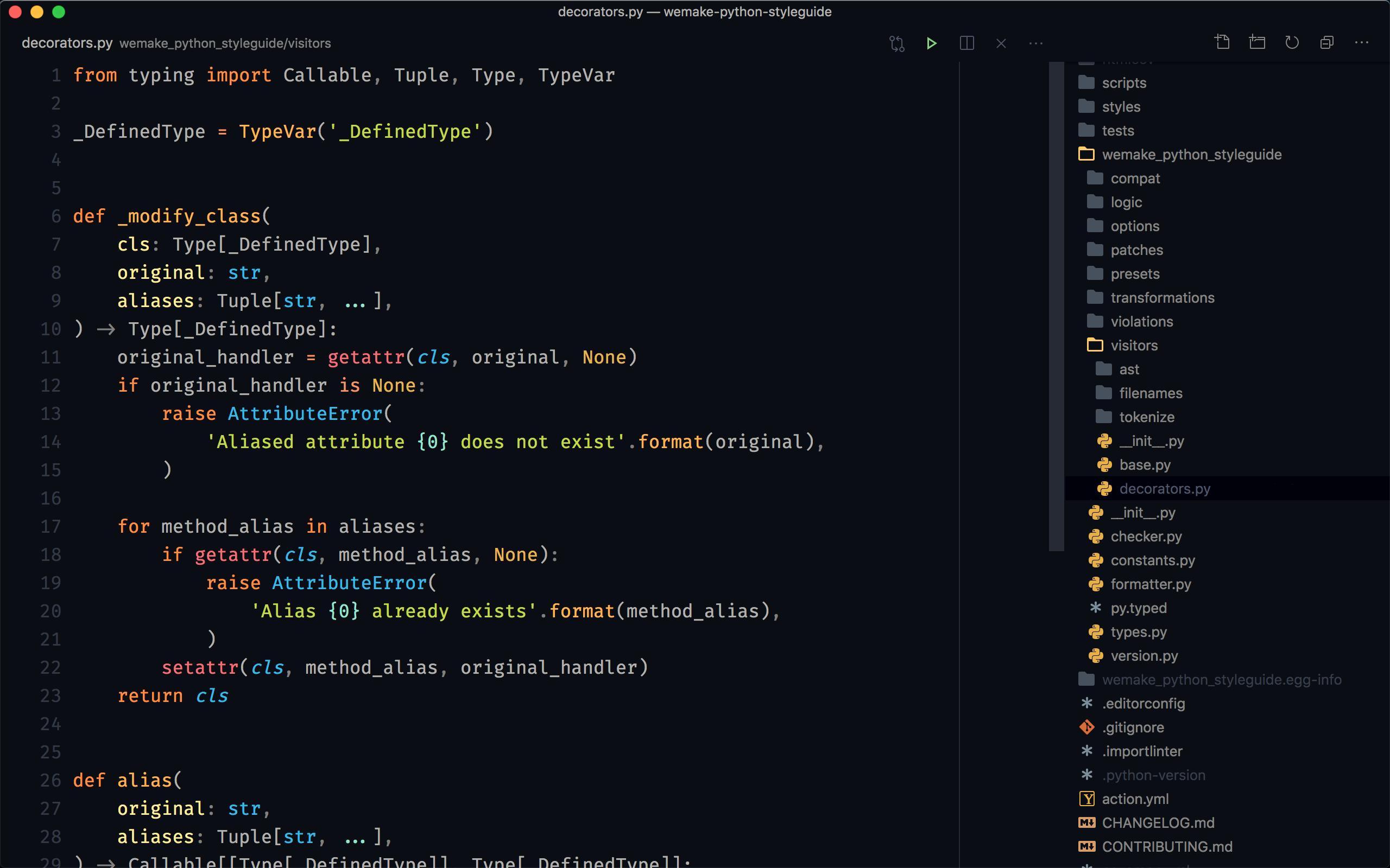 sobolevn's vscode for Python