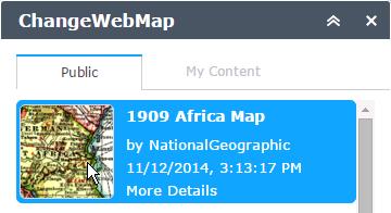 Select Web Map