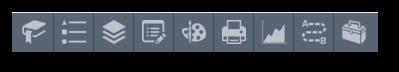 Default icons on dark background