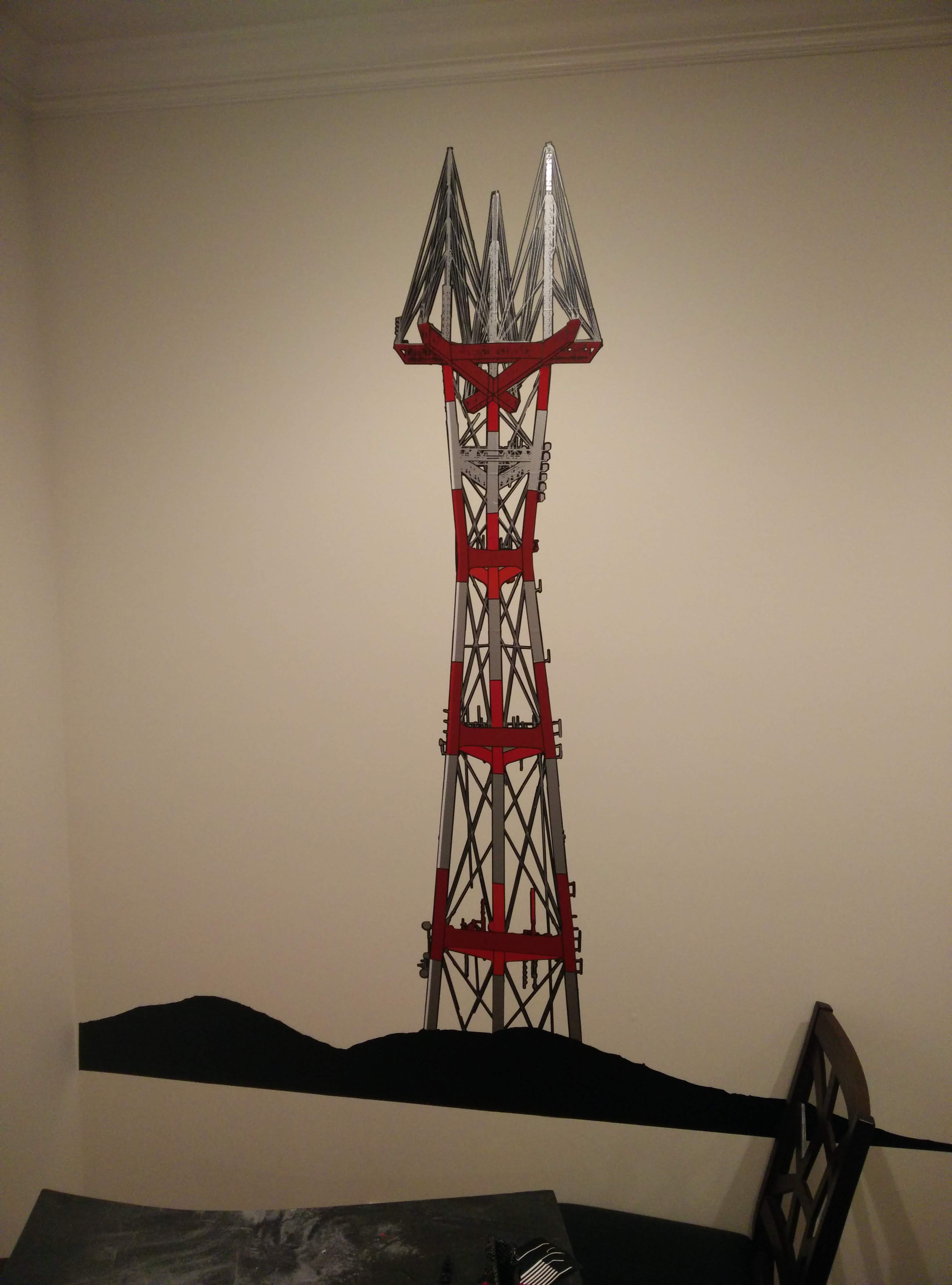 Image of Sutro Tower on the Wall