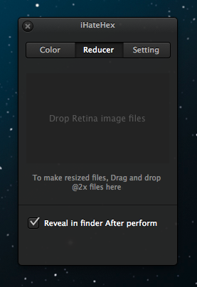 Retina Image Reducer