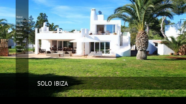 Hostal Five-Bedroom Holiday Home in Santa Eulalia del Río with Terrace