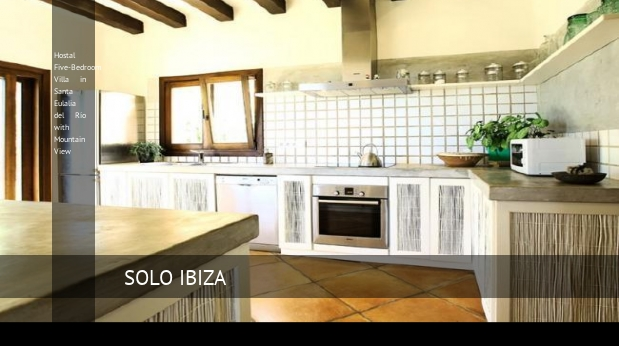 Hostal Five-Bedroom Villa in Santa Eulalia del Río with Mountain View