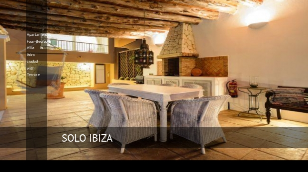 Apartamentos Four-Bedroom Villa in Ibiza ciudad with Terrace reverva