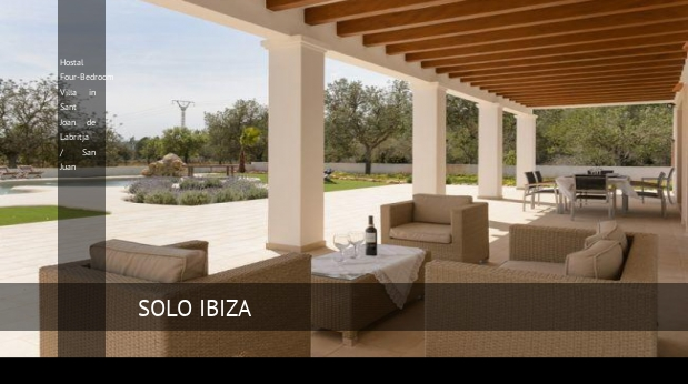 Hostal Four-Bedroom Villa in Sant Joan de Labritja / San Juan reverva