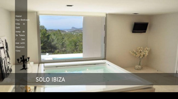 Hostal Four-Bedroom Villa in Sant Josep de Sa Talaia / San Jose with Mountain View opiniones
