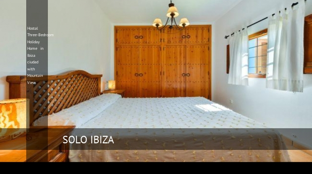 Hostal Three-Bedroom Holiday Home in Ibiza ciudad with Mountain View opiniones