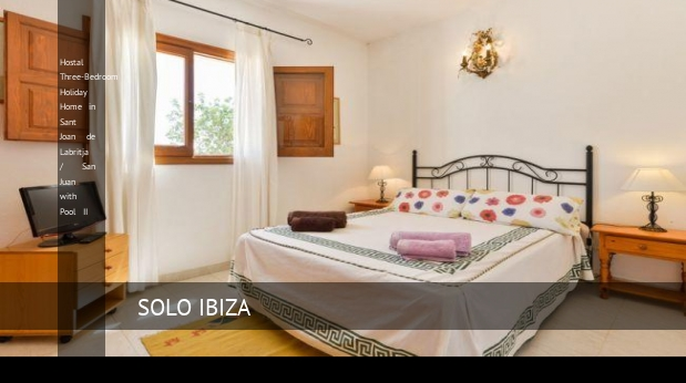 Hostal Three-Bedroom Holiday Home in Sant Joan de Labritja / San Juan with Pool II