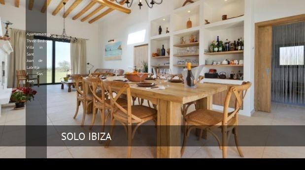 Apartamentos Three-Bedroom Villa in Sant Joan de Labritja / San Juan reverva