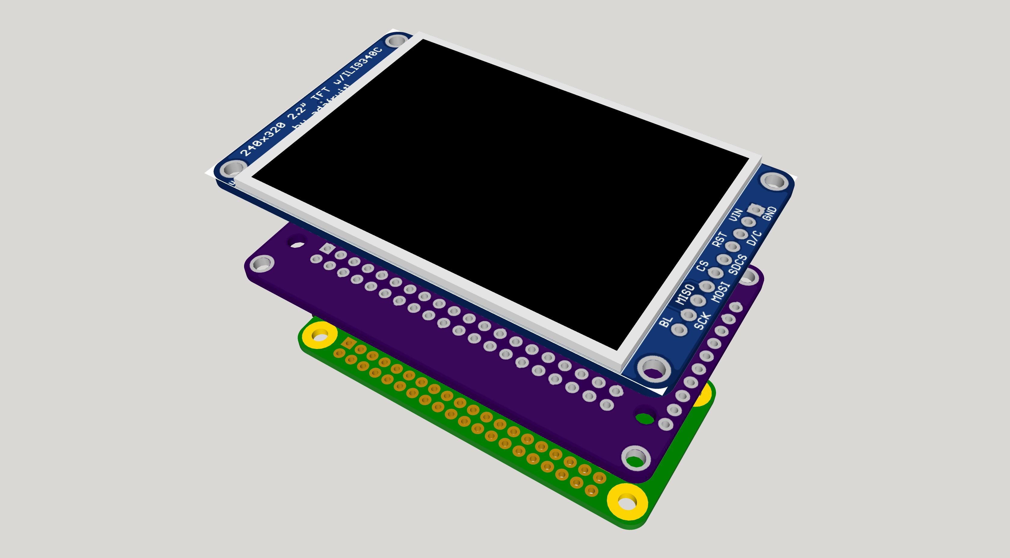 Pi Zero TFT adapter