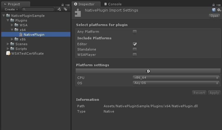 Unity Project For Native Plugin Sample - UnityList