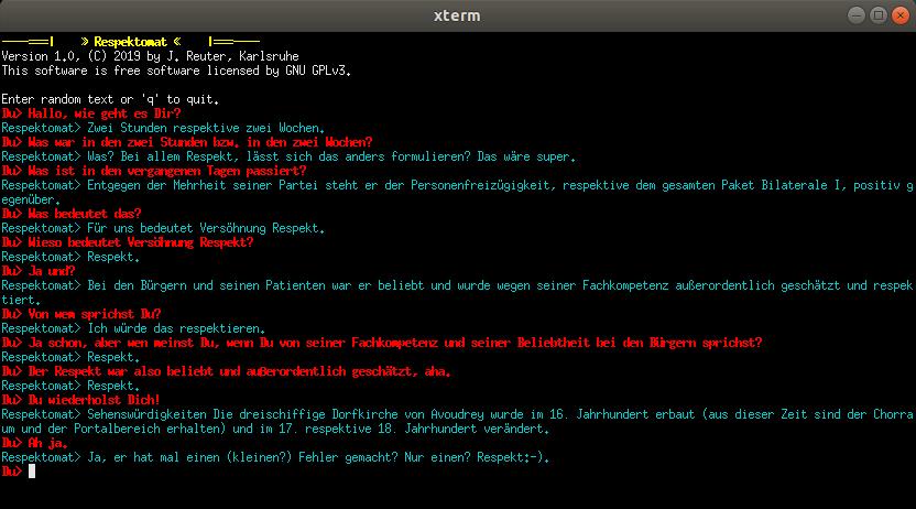 Respektomat V1.0 Screenshot