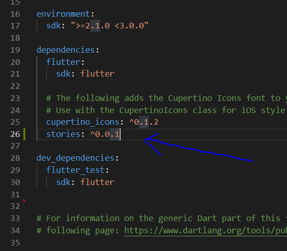 Screenshot of dependency addition