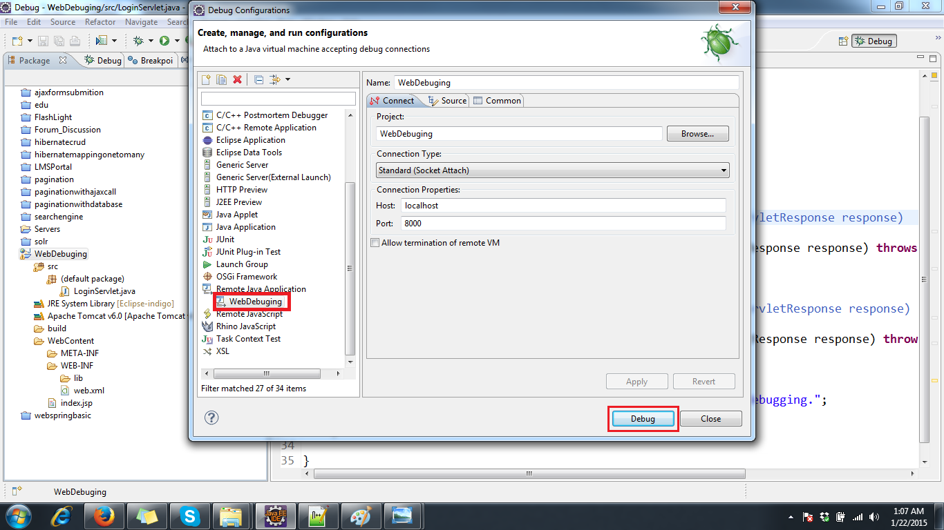 Setting Up Tomcat For Remote Debugging From Eclipse ~ Core Java