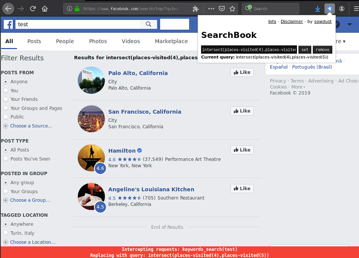SearchBook – A Firefox extension for Graph-like Searches Against