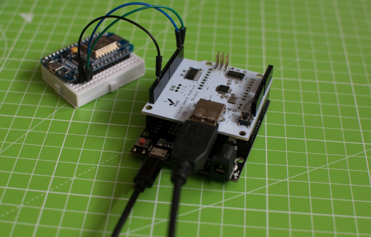 arduino leonardo with usb host shield and a nodemcu