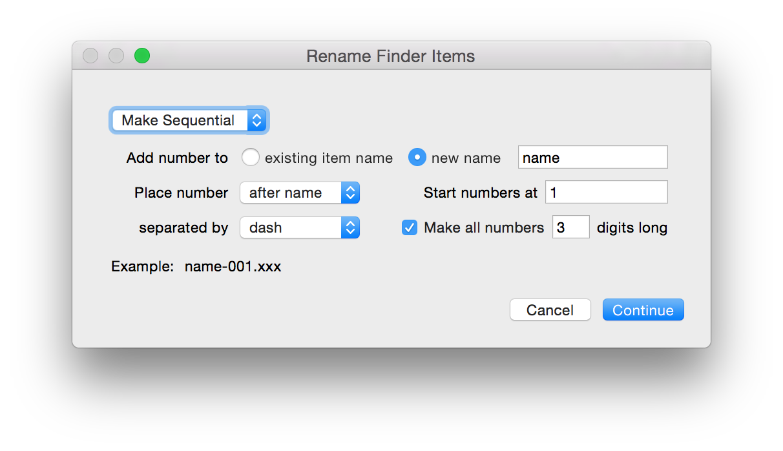 Rename Finder Items