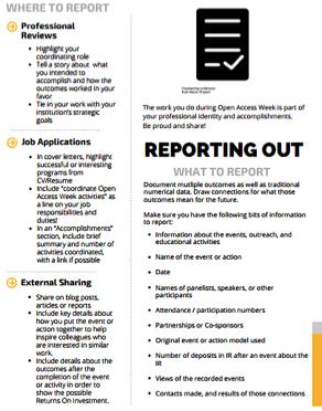 OA Kit Reporting Tips
