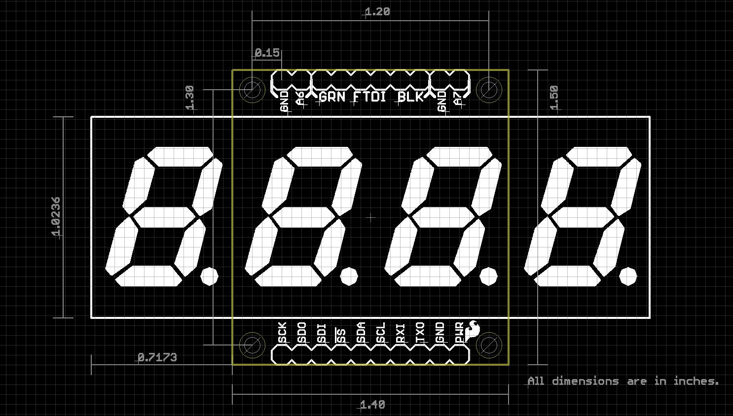 Sparkfun Opensegment Serial Display 20mm Red Com 11644 Circuit Diagram For The 7segment