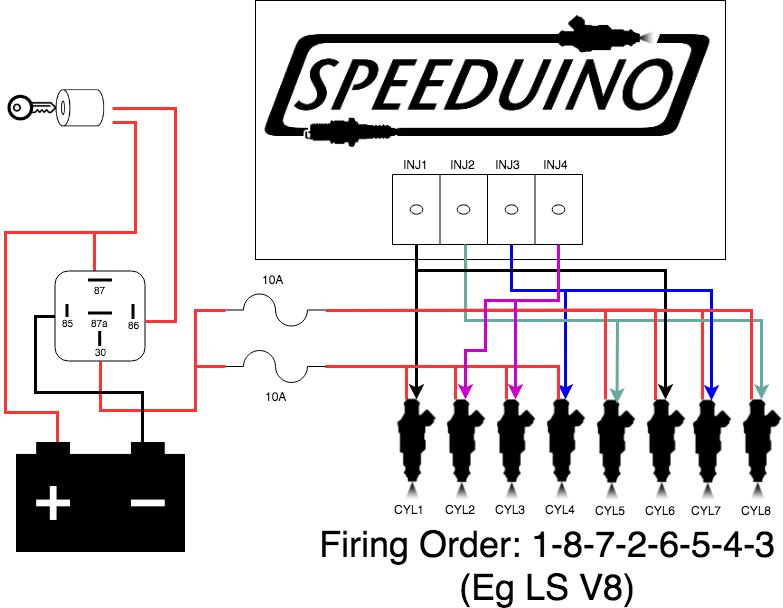 Injector wiring - Speeduino