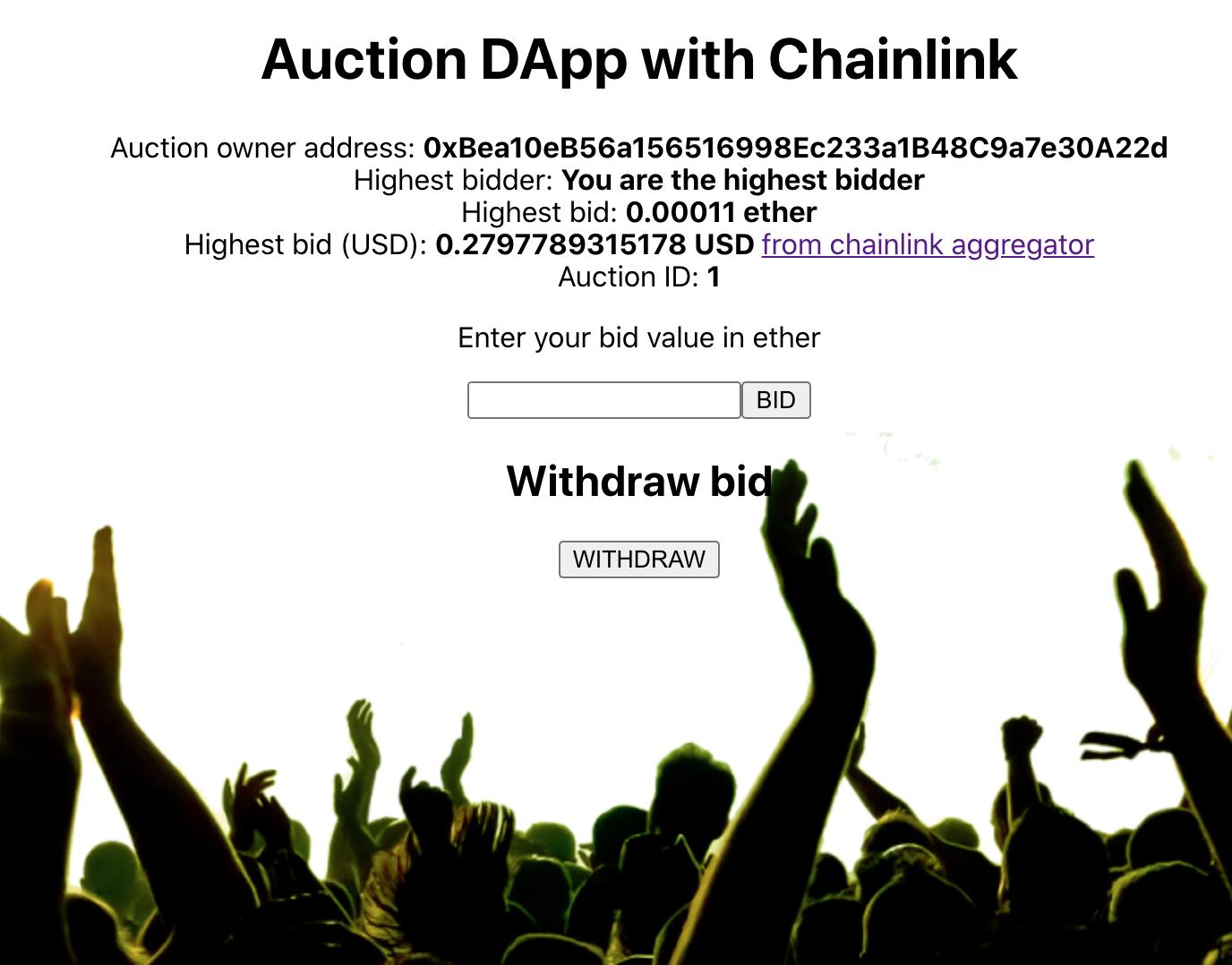 Auction Dapp with Chainlink - 带链接的拍卖Dapp