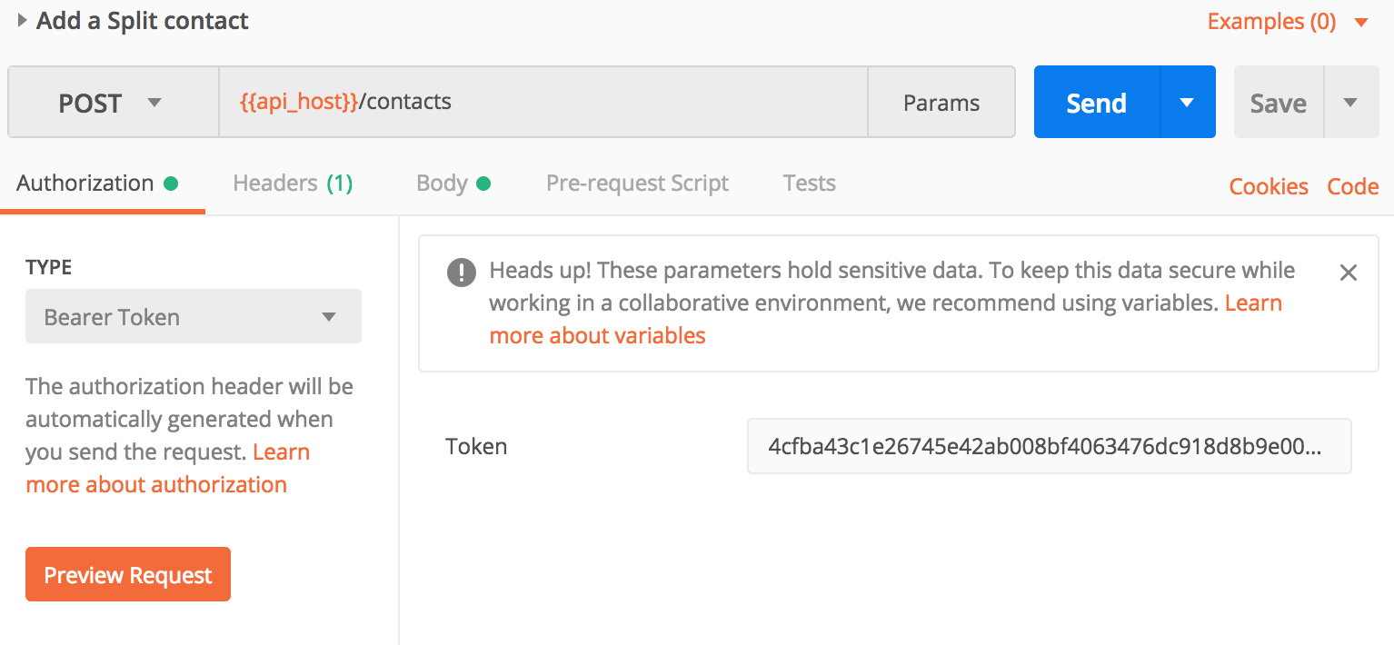 Postman use personal OAuth2 tokens