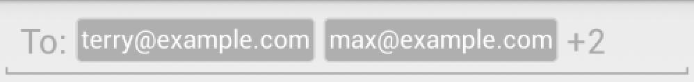 Unfocused TokenAutoCompleteTextView example
