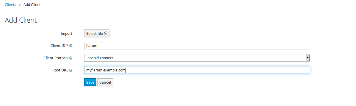 Add Keycloak client