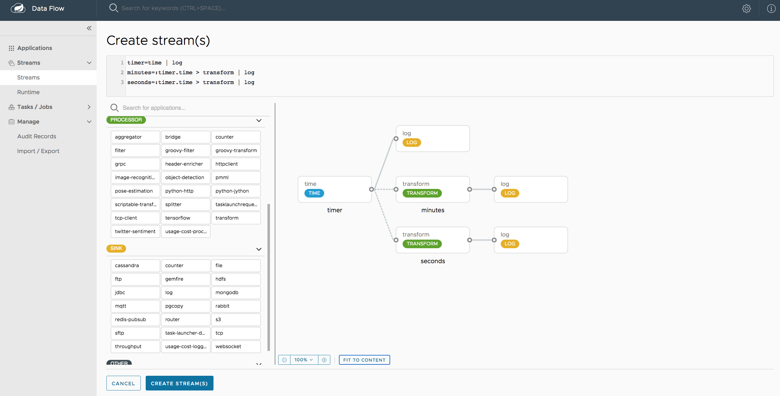 Data Flow Designer Screenshot